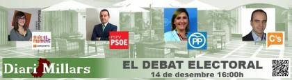 Els candidats a les eleccions per Castelló debaten en el Diari Millars