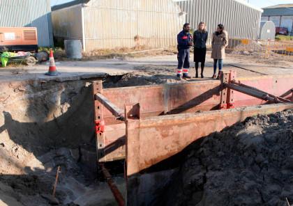Castelló inicia la reparació del clot de l'Aeroclub