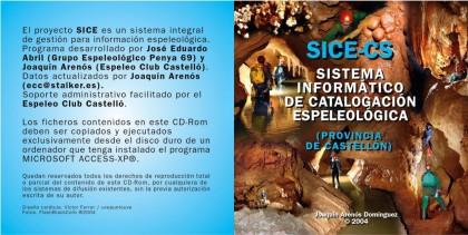 AÑO 2004 - Carátula del CD para distribuir el programa y los datos almacenados en el SICE-CS