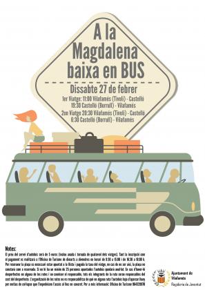Vilafamés ofereix autobús per anar a les festes de la Magdalena