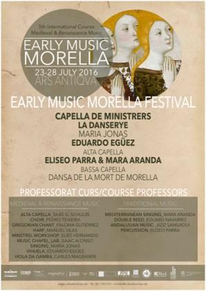 Els amants de la música antiga tenen una cita amb la celebració de l'Early Music Morella