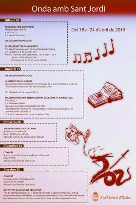 L'Ajuntament organitza unes jornades culturals i educatives per celebrar Sant Jordi