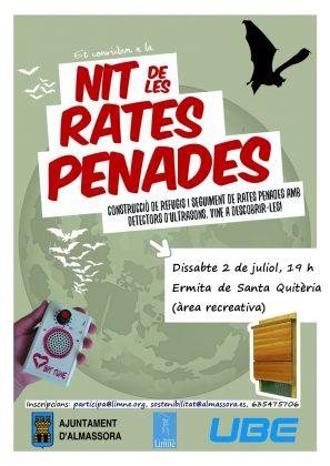 Almassora inicia aquest dissabte els tallers de construcció de caixes refugi de rates penades per a combatre els mosquits