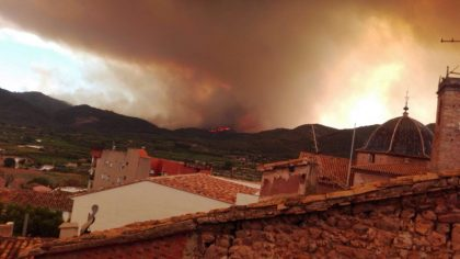 Nova informació sobre l'incendi de la Serra d'Espadà per l'ajuntament d'Onda.