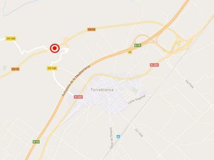 Un camió incendia un bosc a Torreblanca