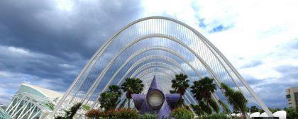 La Ciutat dels Arts i els Ciències és l'espai turístic més conegut de la Comunitat Valenciana