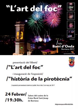 """Presentació del llibret """"L´art del foc"""" de la Falla Barri d´Onda a Borriana"""