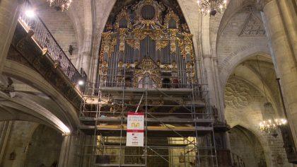 Puig assistí a la presentació de la restauració de les pintures de l'òrgan de Morella