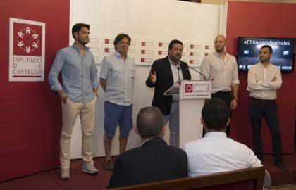 Moliner inaugura la temporada de Castelló Terra de Festivals invertint 400.000 euros en la promoció dels macroconcerts