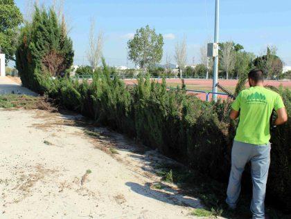 Milloren les instal·lacions de la zona esportiva de Llombai