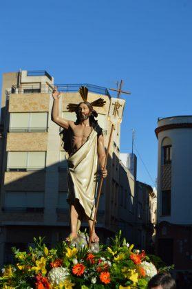 La trobada entre el Crist Ressuscitat i Nostra Senyora dels Dolors a Borriana en imatges