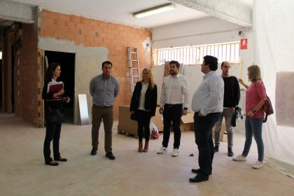 Les obres de remodelació del poliesportiu municipal de Nules continuen al ritme esperat