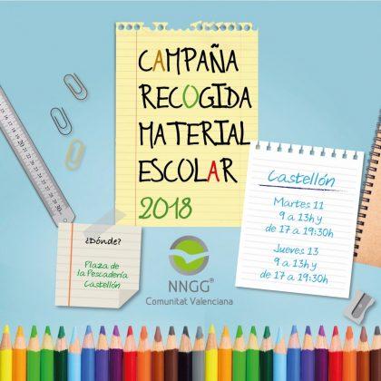 Recollida solidària de material escolar a Castelló