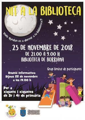 """La Biblioteca Municipal de Borriana organitza la """"Nit a la Biblioteca"""""""