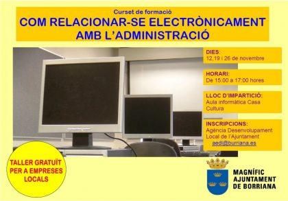 Promoció Econòmica creen un nou taller de gestió electrònica per a professionals del sector comercial a Borriana