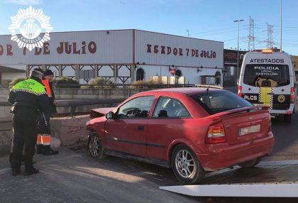 Xoca violentament contra una rotonda a Castelló