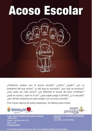 L'Escola de Pares de Benicàssim programa dues xerrades destinades a prevenir l'assetjament escolar i comprendre als adolescents