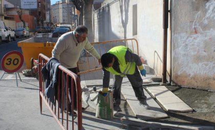 Borriana continua amb les obres d'adequació dels itineraris accessibles en el conjunt de la ciutat