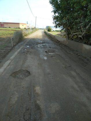 Tallat al trànsit el camí vell de Benicarló per obres d'adequació