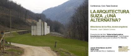 """La doctora Silvia Alonso presenta el seu llibre """"Materialitat poètica. Arquitectura suïssa contemporània"""" a Castelló"""