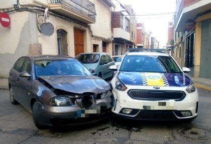 Accident amb un cotxe de policia a La Vall d'Uixó