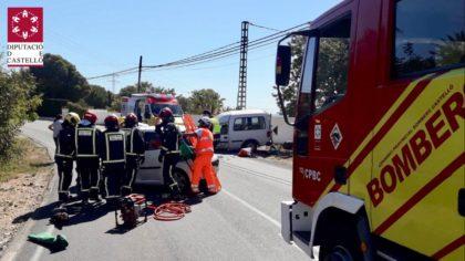 Dos ferits en un accident de trànsit en Alcossebre