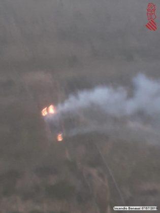 Gran incendi en el barranc de Montlleó a Benassal
