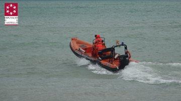 Rescatada una persona del mar a Peníscola