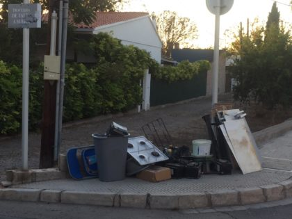 Sis de cada deu persones trauen residus voluminosos al carrer sense avís previ a Borriana