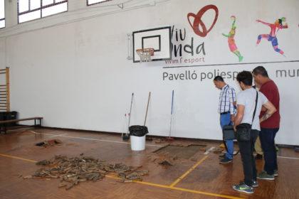 L'Ajuntament d'Onda treballa per esmenar els danys causats per la tempesta en les instal·lacions esportives