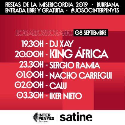 Coneix els horaris dels concerts d'InterPenyes a Borriana