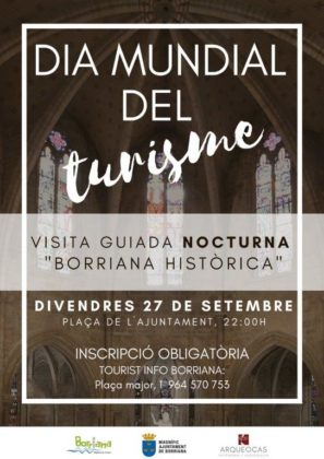 Borriana oferix una visita guiada nocturna a través de la història de la ciutat amb motiu del Dia Mundial del Turisme