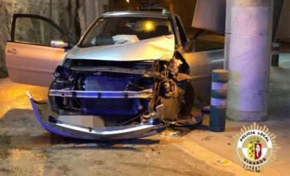 Accident de trànsit en un pas subterrani a Vinaròs
