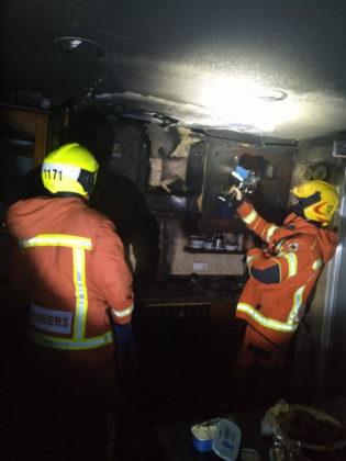 Incendi en una casa a Oliva