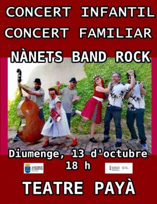 Concert per a xiquets i xiquetes amb Nànets Band Rock el diumenge en el teatre Payà de Borriana