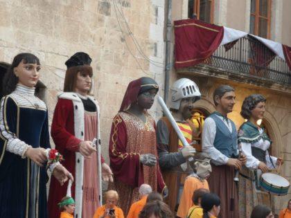L'agraiment dels la colla de gegants de El Vendrell a la ciutat de Borriana en imatges