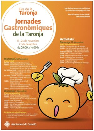 Consulta la programació de les jornades gastronòmiques de la Taronja de Castelló que arranquen este diumenge