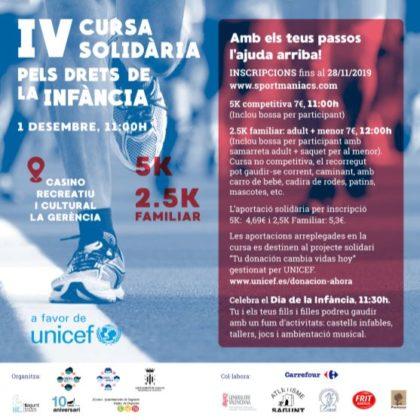 Este diumenge tindrà lloc a Sagunt la IV carrera solidària per a recaptar fons a favor d'Unicef