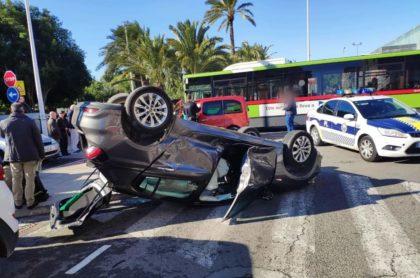 Aparatós accident de trànsit a Elx
