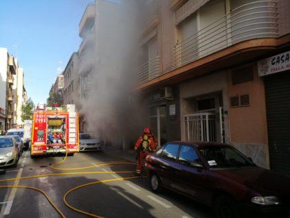 Incendi en un garatge a Torrent