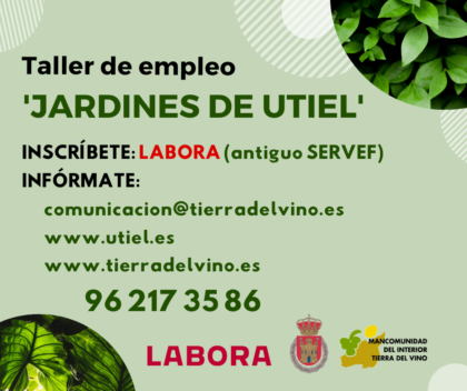 LABORA concedeix a Utiel un taller d'ocupació sobre jardineria