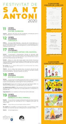 La Regidoria de Festes de Peníscola presenta la programació de Sant Antoni 2020 i les novetats d'esta edició