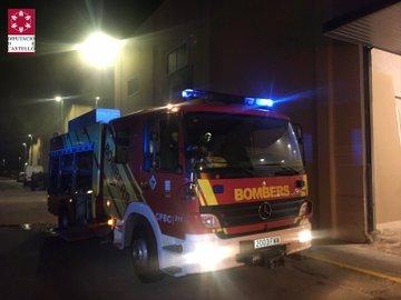 Incendi industrial a la Vall d'Uixó