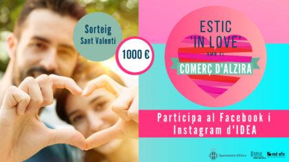 La nova campanya de Sant Valentí d'Alzira, sortejarà 1000 euros