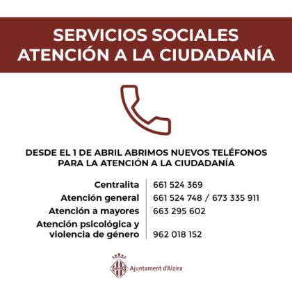 Serveis Socials d'Alzira redobla esforços per atendre les persones més vulnerables
