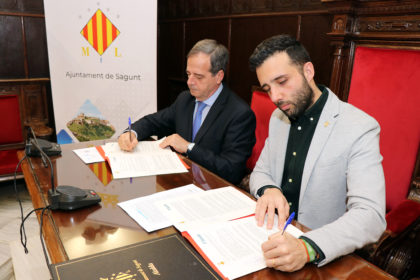 L'Ajuntament de Sagunt signa un conveni de col·laboració amb la Sareb per a destinar 25 habitatges a lloguer i emergència social