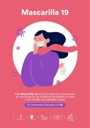Sagunt se suma a la campanya 'Mascareta 19' per a ajudar a dones víctimes de violència de gènere