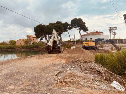 Borriana reposa la passarel·la de terra en el Clot per donar accés a la zona de les Terrasses