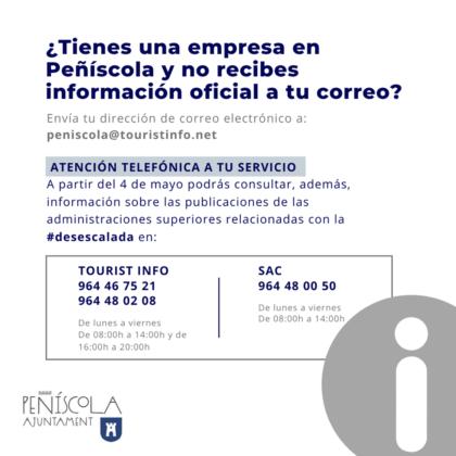 L'Ajuntament de Peníscola posa en marxa un servei telefònic de consulta per a autònoms i empreses