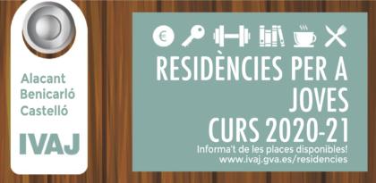 El termini per a sol·licitar places en les residències juvenils de l'IVAJ finalitza el 31 de juliol